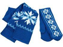 Теплый привет из Лапландии. Шарф и варежки в подарочной коробке в виде Деда Мороза, синий. Упаковку можно использовать круглый год в качестве шкатулки купить