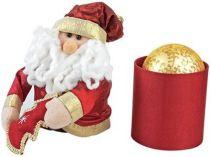Сокровенное желание. Золотой ёлочный шар в подарочной коробке в виде Деда Мороза. Упаковку можно использовать круглый год в качестве шкатулки или подставки под ручки купить