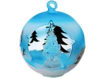 Сказочное рождественское дерево в окружении лесных зеленых елей в шаре с меняющей цвет подсветкой купить