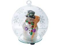 Зимние радости. Снеговик в шаре с меняющей цвет подсветкой купить