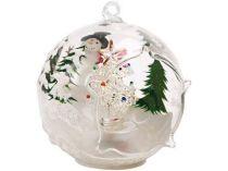 Новогодняя ёлка в шаре со снеговиком с меняющей цвет подсветкой купить
