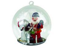 Новогодний шар с Дедом Морозом — строителем купить