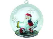 Новогодний шар с Дедом Морозом — пилотом Новогоднего самолета купить