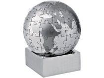Головоломка «Земной шар» в виде паззлов на магните, серебристая купить