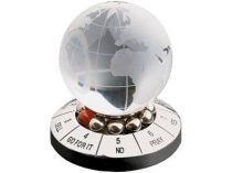 Десижн-мейкер со стеклянным шаром и картой мира купить