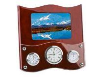 Погодная станция «Гудзон»: часы, термометр, гигрометр и рамка для фотографии купить