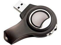 Карта памяти USB 2.0 на 1 Гб с фонариком, лазерной указкой и шнуром для ношения на шее, черная купить
