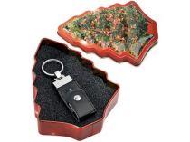 Карта памяти 1 Gb в подарочной упаковке в виде елки - оригинальный подарок на Новый Год купить