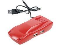 USB Hub на 4 порта в виде автомобиля, красный купить