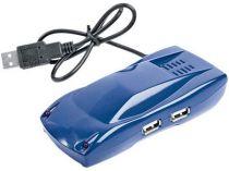 USB Hub на 4 порта в виде автомобиля, синий купить