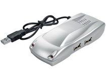 USB Hub на 4 порта в виде автомобиля, серебристый купить