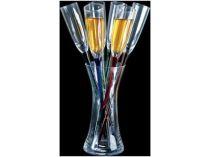 Ваза стеклянная с 6 фужерами «Тюльпан» купить