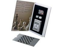 Набор «Книга Игр» c афоризмами знаменитых людей об игре: шахматы, нарды, кости, колода карт купить