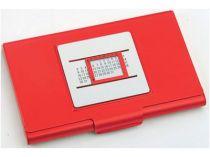 Визитница с «вечным» календарем, красная купить