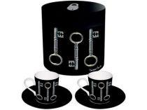 Набор «Ключи»: 2 чашки на 70 мл с блюдцами купить