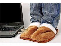 Маленькие радости. Тапочки, работающие от USB, согреют ноги в доме или в офисе купить