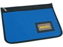 Папка для документов с отделением для визиток на молнии, синяя купить