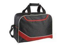 Сумка дорожная с одним отделением и карманом на молнии, красная от Oma-Promo, Art. o1_935991 Promo