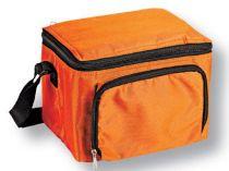 Сумка-холодильник на 3 л с отделением на молнии, оранжевая купить