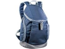 Рюкзак с тремя отделениями, держателем для бутылок и выходом для наушников, синий купить