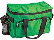 Сумка-холодильник на 10 л с отделением на молнии, боковым чехлом для мобильного телефона и сетчатым карманом, зеленая от Oma-Promo, Art. o1_936623 Promo
