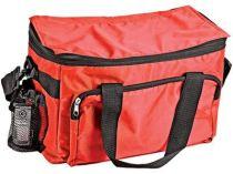 Сумка-холодильник на 10 л с отделением на молнии, боковым чехлом для мобильного телефона и сетчатым карманом, красная купить