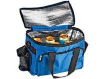 Сумка-холодильник на 10 л с отделением на молнии, боковым чехлом для мобильного телефона и сетчатым карманом, синяя от Oma-Promo, Art. o1_936682 Promo