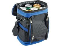 Сумка-холодильник на 6 л с отделением на молнии и 3 сетчатыми карманами, синяя купить