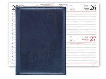 Ежедневник REINA 5450 (650) 145x205 мм синий, белый блок, посеребренный срез купить