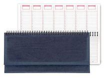 Недатированный планинг REINA 5496 (794U) 298х140 мм синий посеребренный срез кр-чр бл в коробке купить