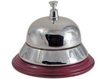 Настольный звонок для совещаний серебр. на деревянной подставке купить