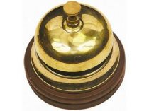 Настольный звонок для совещаний на деревянной подставке купить