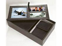 Набор Samsonite (Самсонайт): портмоне и ключница из натуральной кожи в коробке с тремя рамками для фотографий купить
