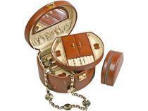 Шкатулка для драгоценностей Champ (Шамп) кожаная  с дорожным футляром купить