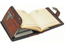 """Ежедневник """"Два континента"""" Giulio Barca (Джулио Барка) с записной и адресной книжкой в обложке из натуральной кожи со вставками из микрофибры, формат А5 купить"""