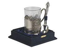 Набор: стакан с подстаканником и ложкой* купить