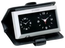 Часы Ferre с двумя циферблатами в кожанном кейсе купить