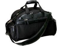 Дорожная сумка Ferre (Джанфранко Ферре) из натуральной кожи и высококачественного нейлона: два боковых кармана на молнии, удобные ручки и плечевой ремень из натуральной кожи купить